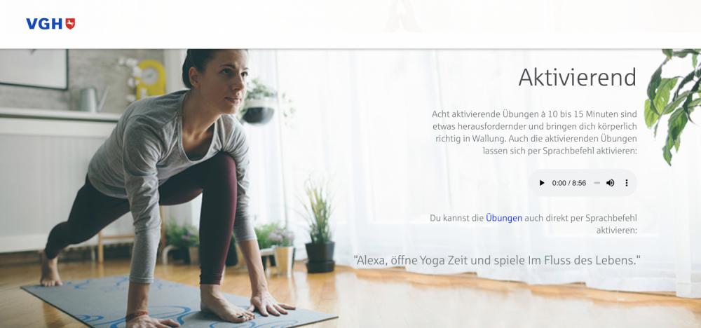 VGH Yoga Zeit