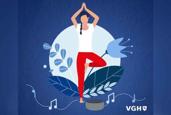 VGH yoga Zeit Alexa Skill Google Action